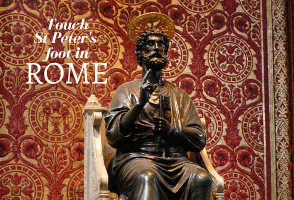 Why touch St Peter's foot in Rome?