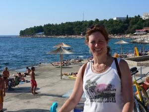 Cycling by the sea in Istria, Croatia