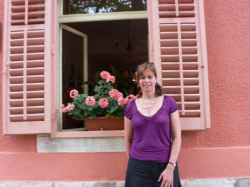 Heather at Grožnjan in Istria, Croatia