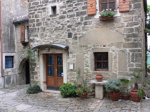 Old Houses at Grožnjan in Istria, Croatia