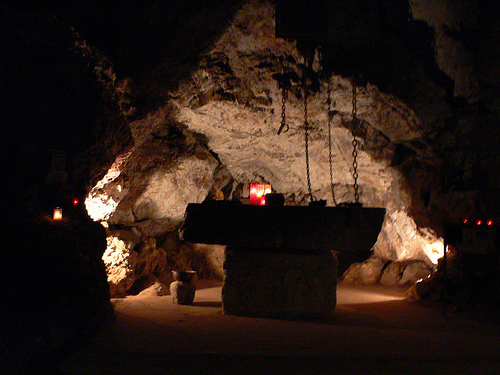 The Grotto of St Anthony of Qozhaya in Lebanon
