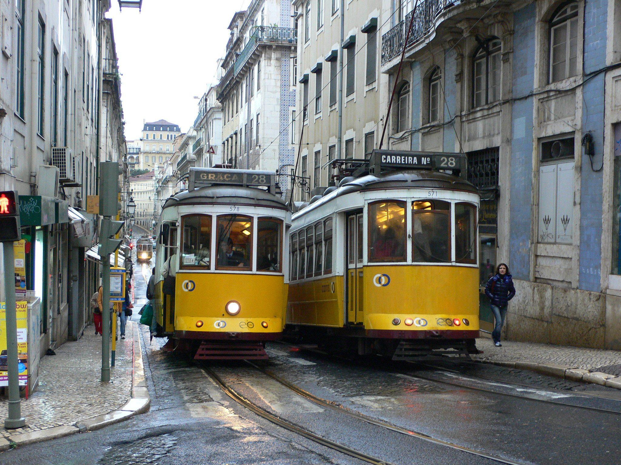 Lisbon trams - Weekend in Lisbon