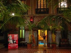 The internal courtyard at Casa do Alentejo