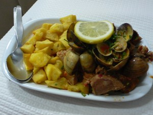 Pork with clams at Casa do Alentejo in Lisbon