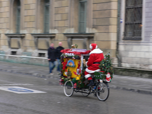 Father Christmas seen in Munich