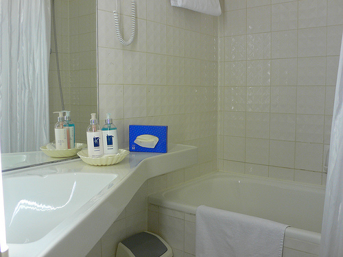 Bathroom at Hotel Halkenturm in Munich