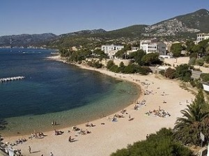 A small resort, Cala Gonone