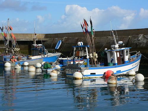 Fishing boats on Isle de Houat in Brittany