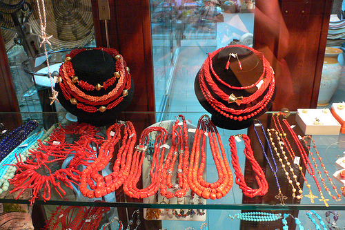 Coral Jewellery at Cala Gonone