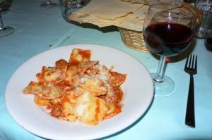 Dish in red wine in Sardinia