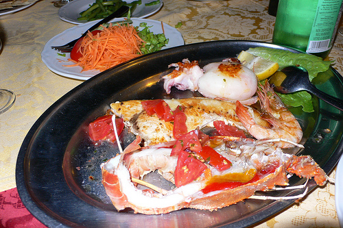 Fish platter in Sardinia