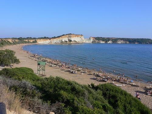 Gerakas Turtle beach on Zakynthos in Greece