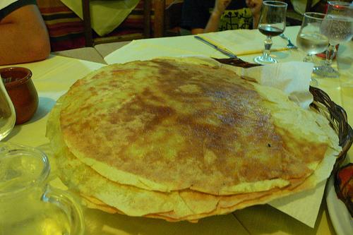 Pane carasau in Sardinia