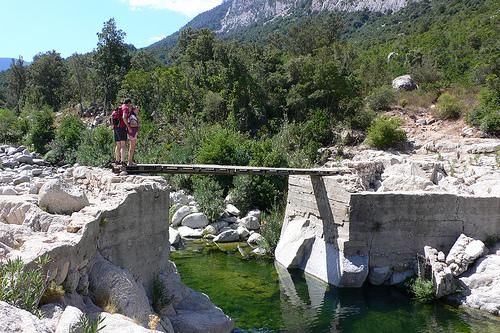 River near Gola di Gorroppu in Sardinia
