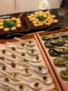 Canapes at the Grantourismo launch