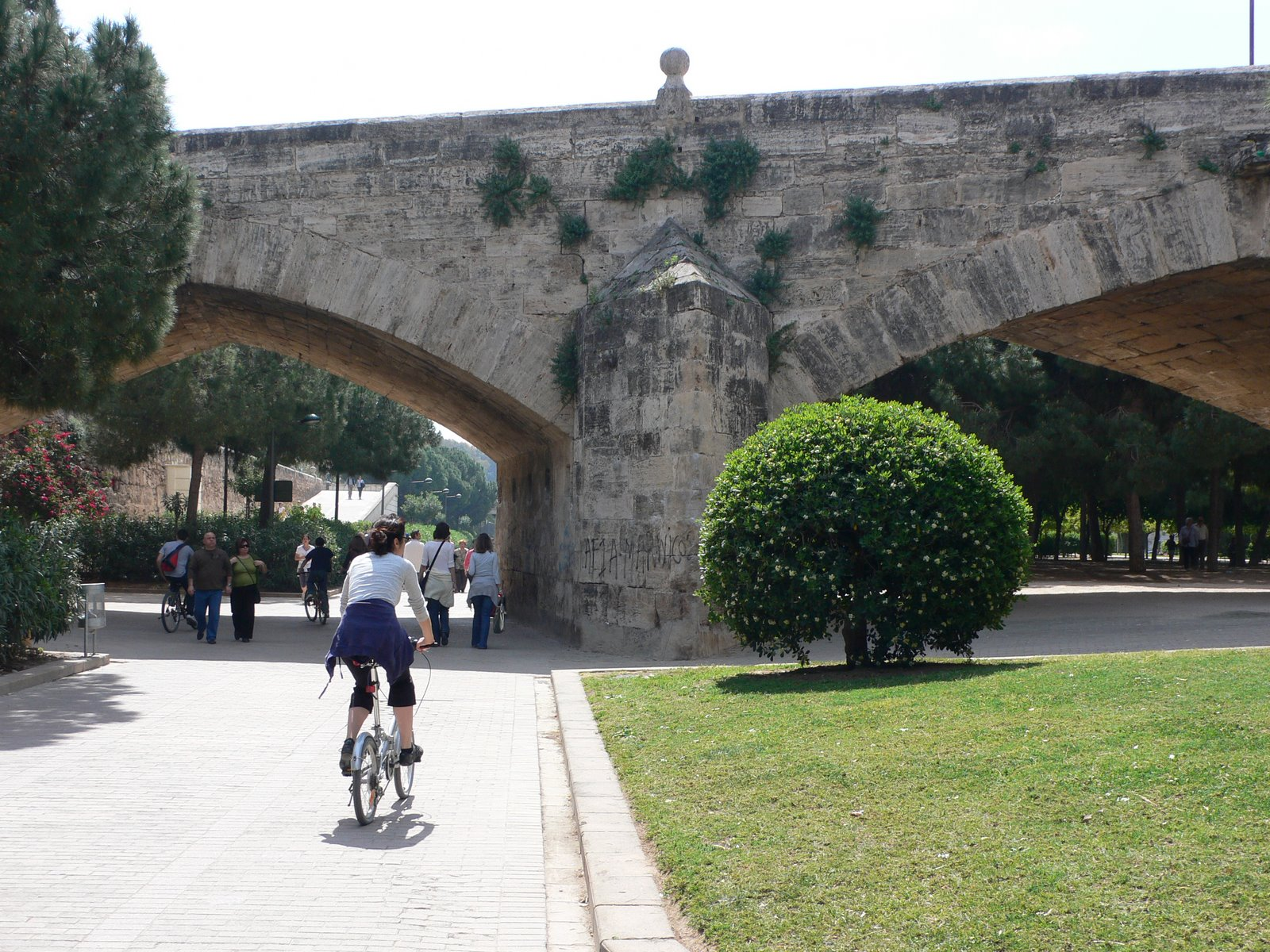 A cycle in the turia gardens in valencia heather on her travels - Jardin del turia valencia ...