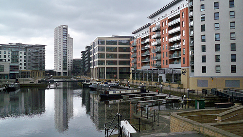Clarence Dock Canal in Leeds