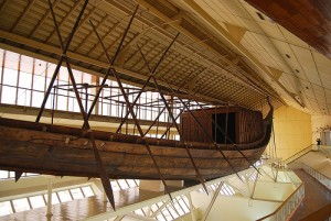 Felucca in the Khufu Boat museum