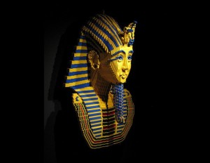 King Tut lego mask at the Cairo museum