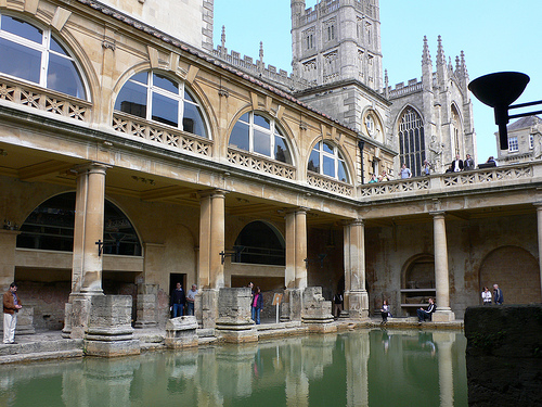 Great Bath at the Roman Baths in Bath