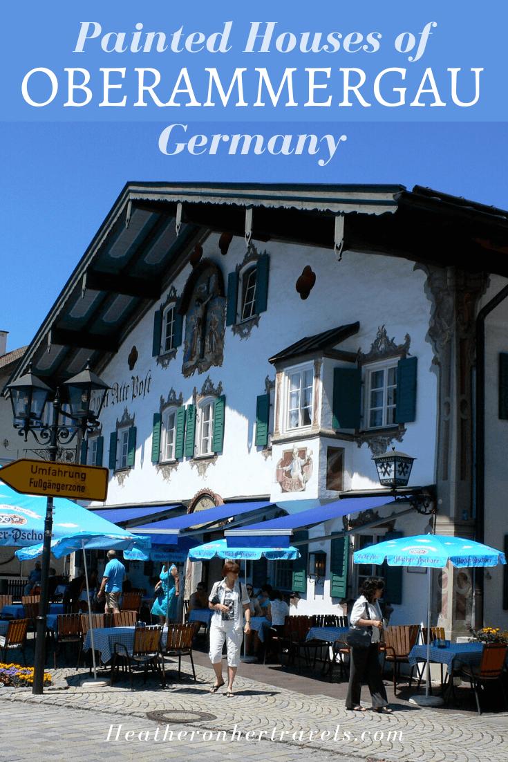 Oberammergau painted houses Germany