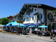 Painted house in Oberammergau in Bavaria, Germany