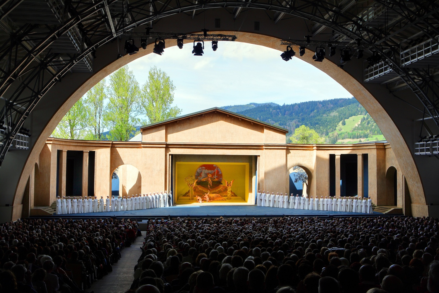 Passion Play theatre daytime Photos: Oberammergau Passion Play 2020