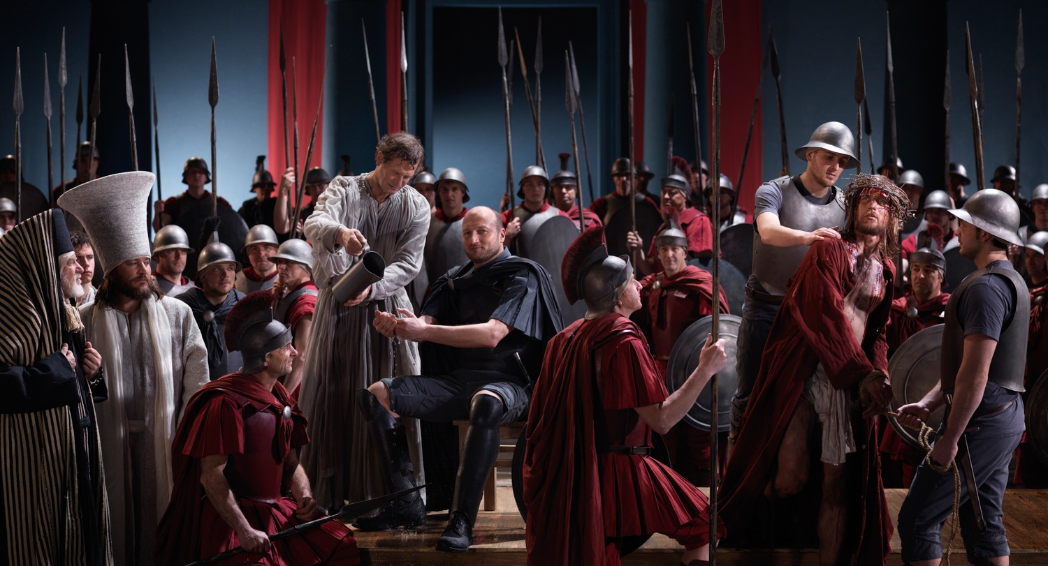 Pilate condemns Jesus to death Photos: Oberammergau Passion Play 2020