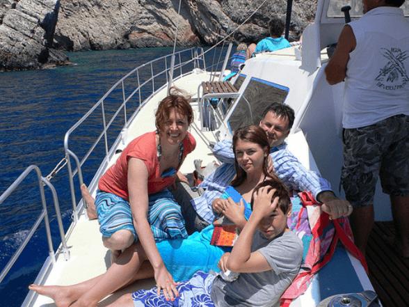 Boat trip on Zakynthos, Greece
