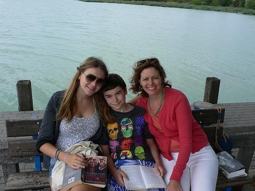 On holiday at Lake Balaton, Hungary