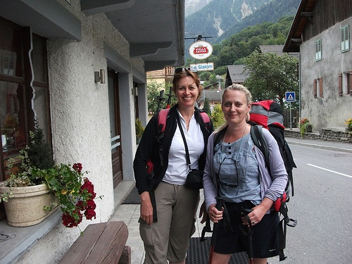Heather and Julia at the end of our walk in Les Houches