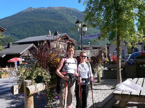 Heather and Julia at the start of our walk in Les Houches
