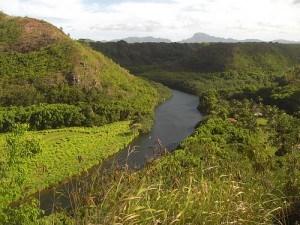 Wailua River in Hawaii