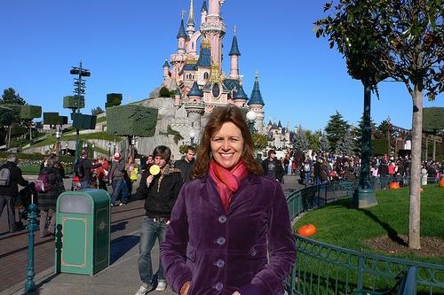 Heather at the Sleeping Beauty Castle, Disneyland Paris