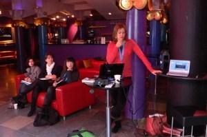 Heather presenting at TBEX