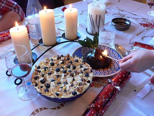 Trifle and Christmas pudding