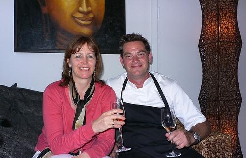 Heather Cowper and Henrik Yde-Andersen at Kiin Kiin in Copenhagen