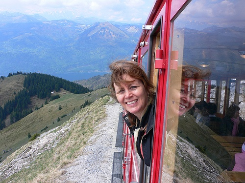 Schafbergbahn steam train above Wolfgangsee - photo by Heatheronhertravels.com