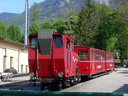 Schafbergbahn steam train at St Wolfgang in Austria - photo by Heatheronhertravels.com