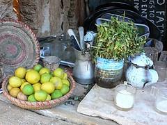 Mint tea at Fatnas island in Siwa in Egypt Photo: Heatheronhertravels