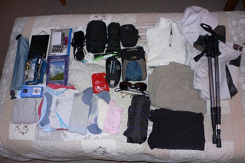 What I packed for our Tour de Mont Blanc Walk