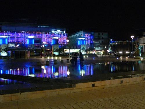 Millenium square in Bristol at night - Bristol free things to do Photo: Heatheronhertravels.com