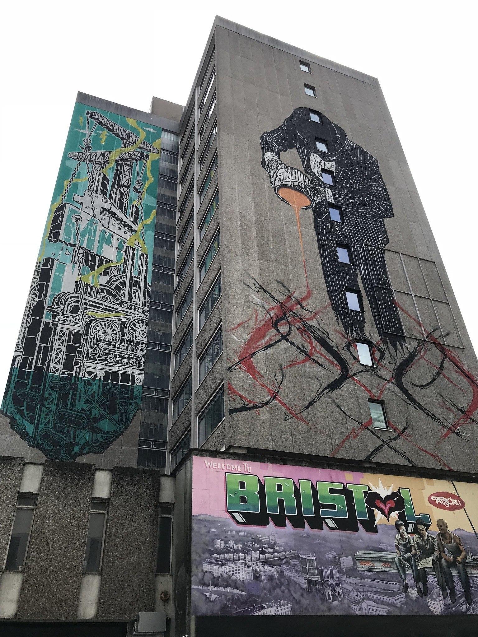 Street art on Nelson Street Bristol