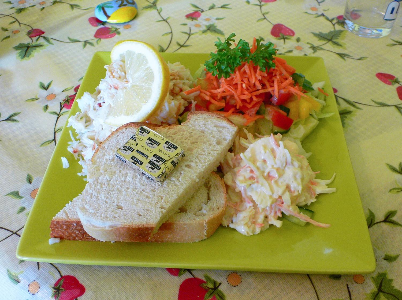 Crab Salad - Guernsey Food Photo Heatheronhertravels.com