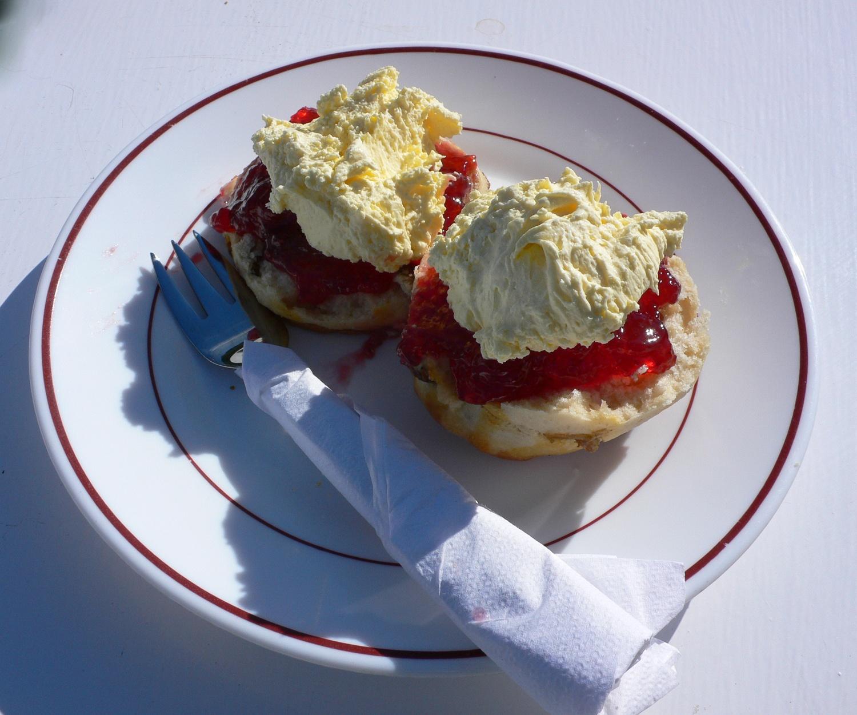 Cream tea - Guernsey Food Photo Heatheronhertravels.com