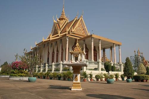Silver Pagoda at the Royal Palace, Phnom Penh Photo: Kirk Siang on Flickr