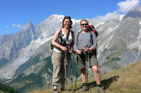Walking on the Tour de Mont Blanc Photo: Heatheronhertravels.com