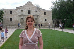 At the Alamo in San Antonio Photo: Heatheronhertravels.com