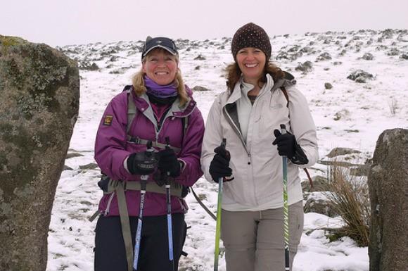 Nordic Walking on Dartmoor with Elaine Sylvester from LoveDartmoor.com Photo: Heatheronhertravels.com