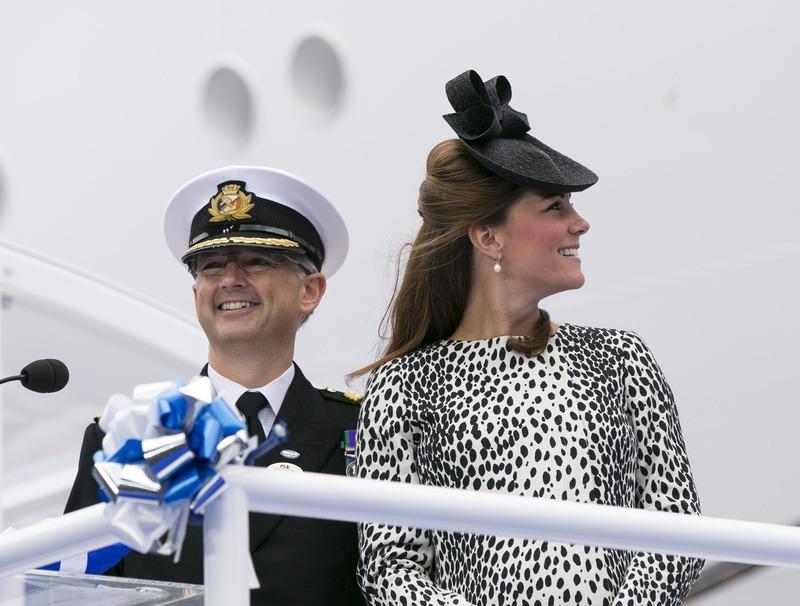 The Duchess of Cambridge at the Royal Princess Naming Ceremony Photo: Steve Dunlop, Princess Cruises
